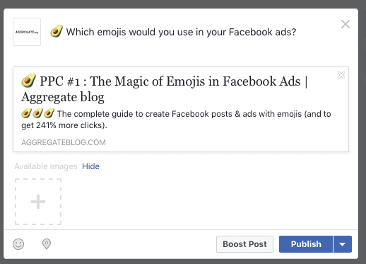 add emoji to Facebook