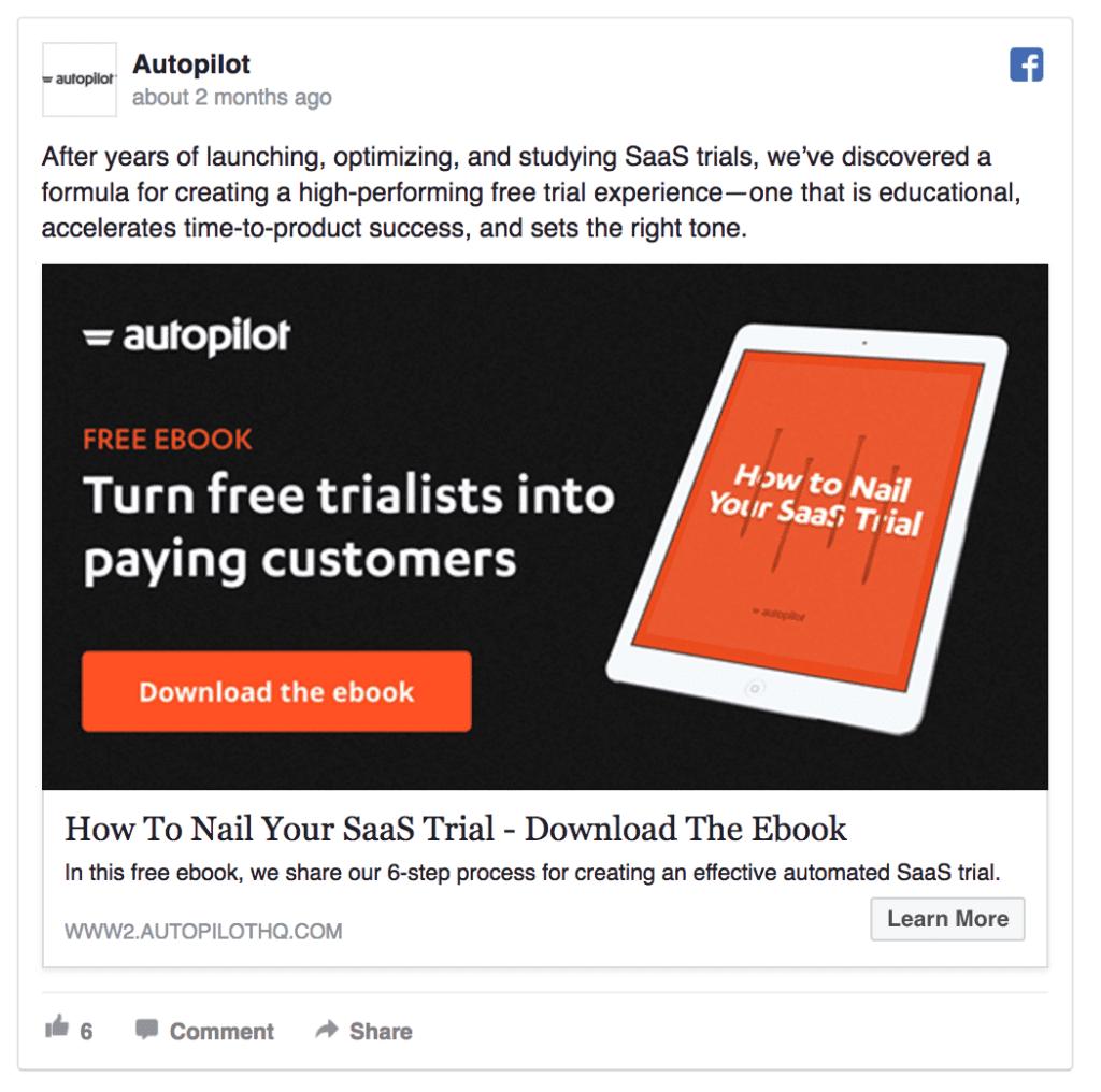Autopilot facebook ad