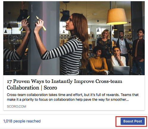 promote content on Facebook