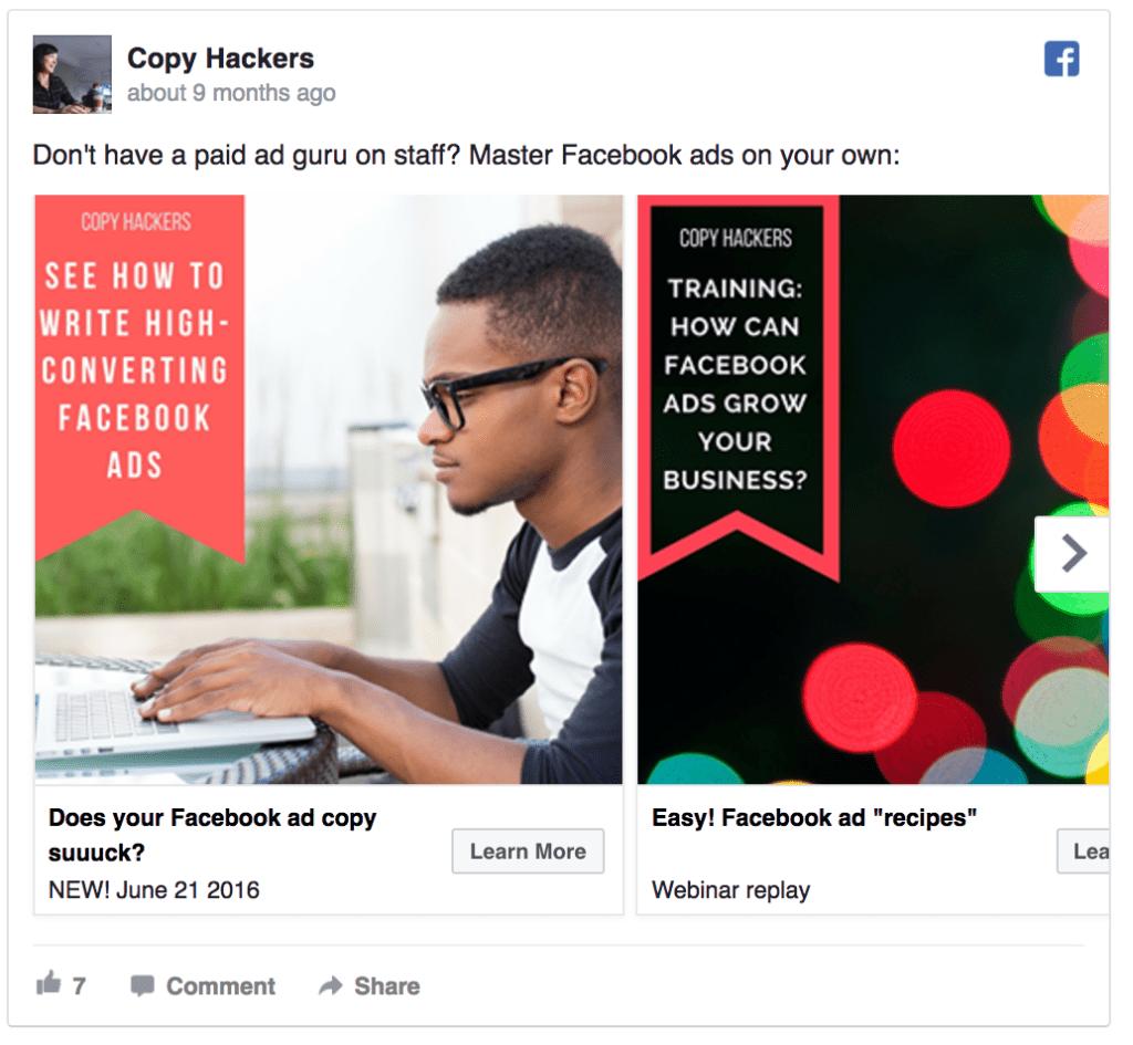Copy Hackers ad