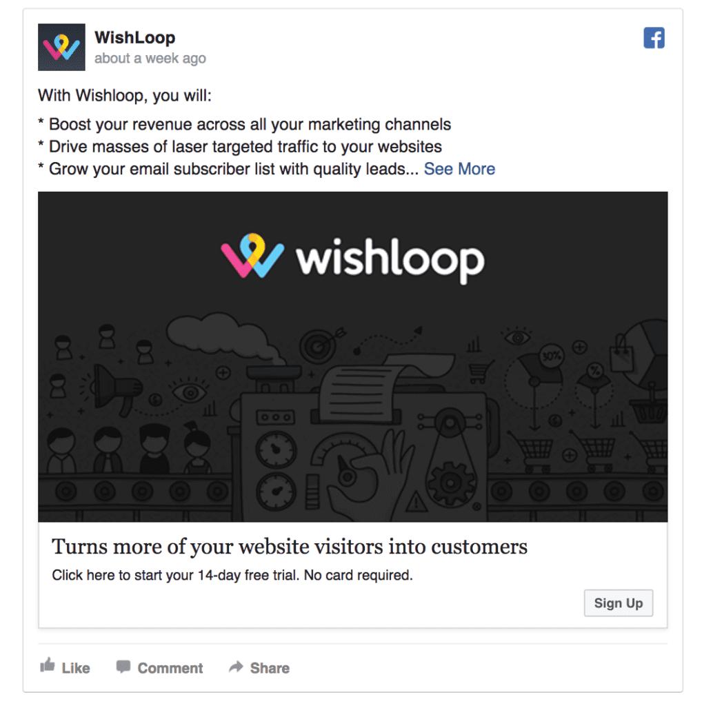 WishLoop ad example