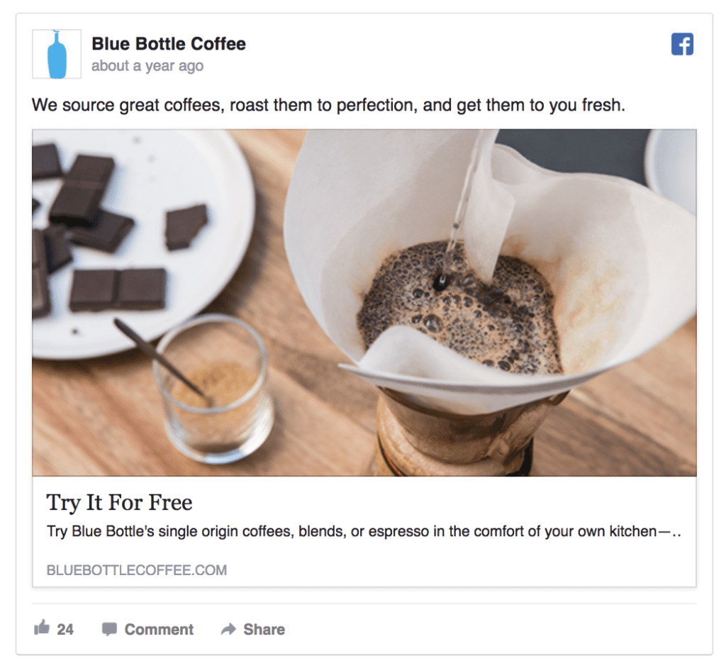 blue bottle coffee ad