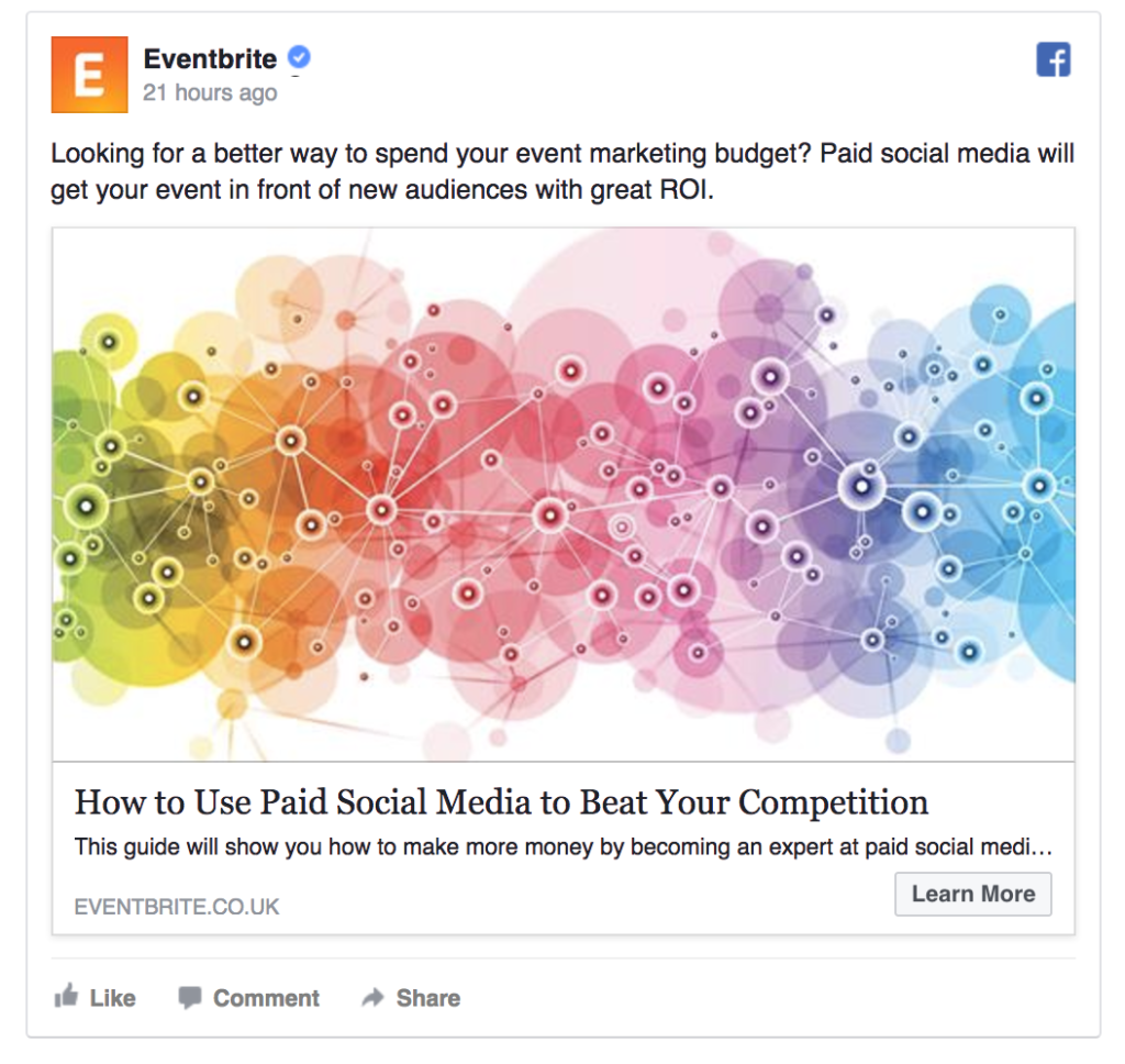 eventbrite facebook ad