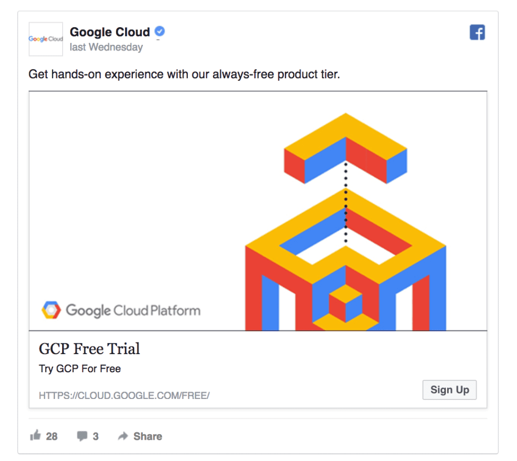 google cloud ad example