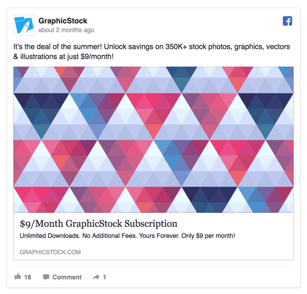 graphic stock ad example