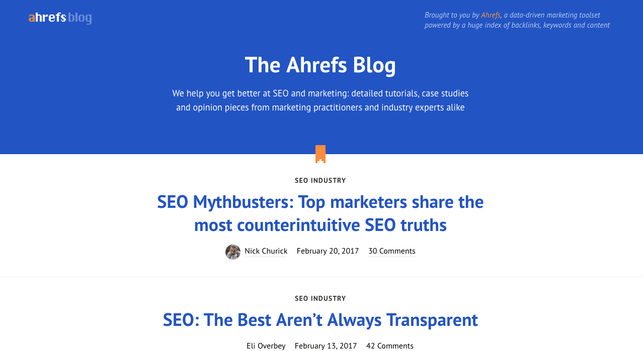 ahrefs marketing blog
