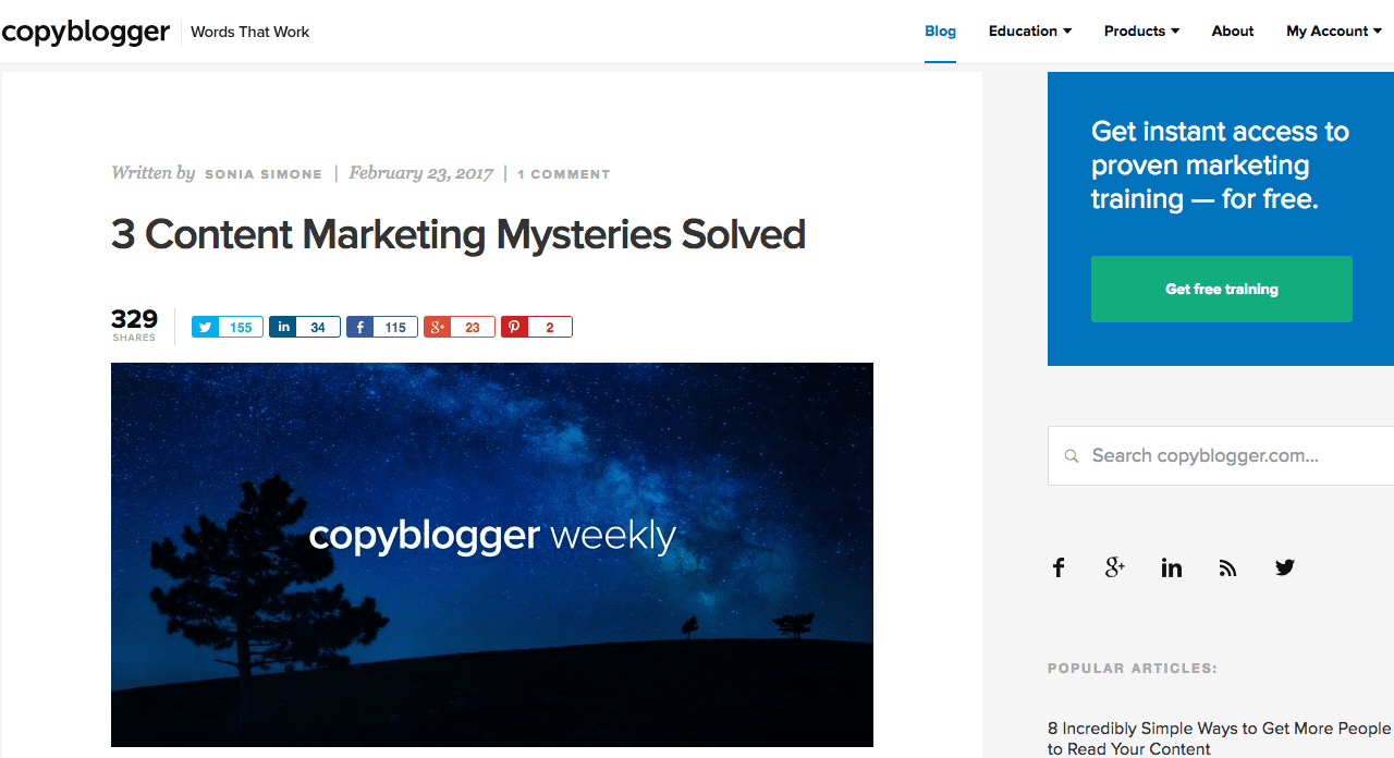 copyblogger marketing blog