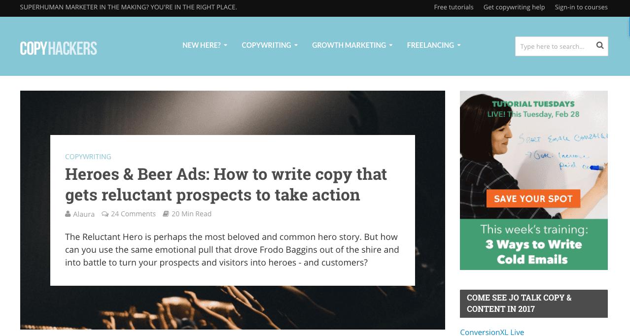 copyhackers marketing blog