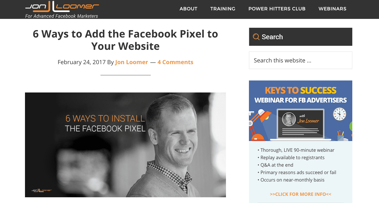 jon loomer facebook advertising blog