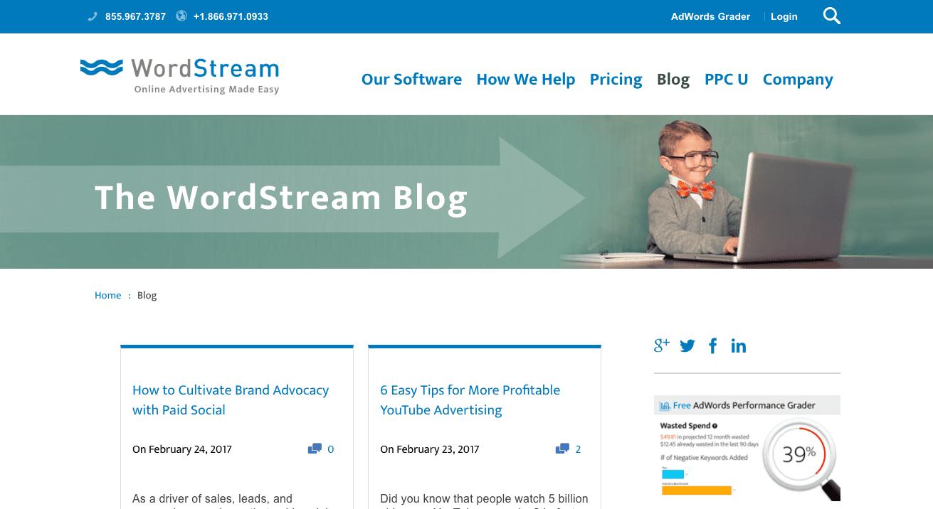wordstream marketing blog