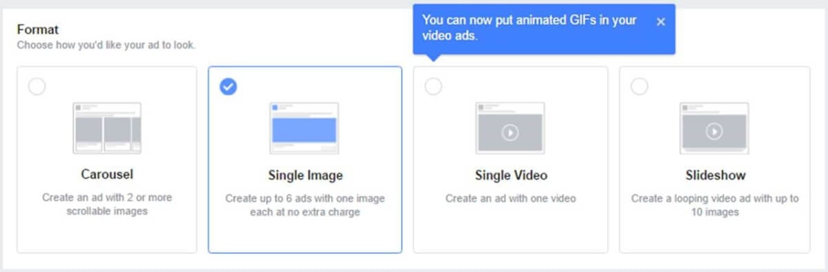 Use GIFs in facebook ads