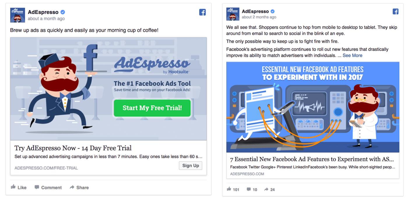 adespresso facebook ad design