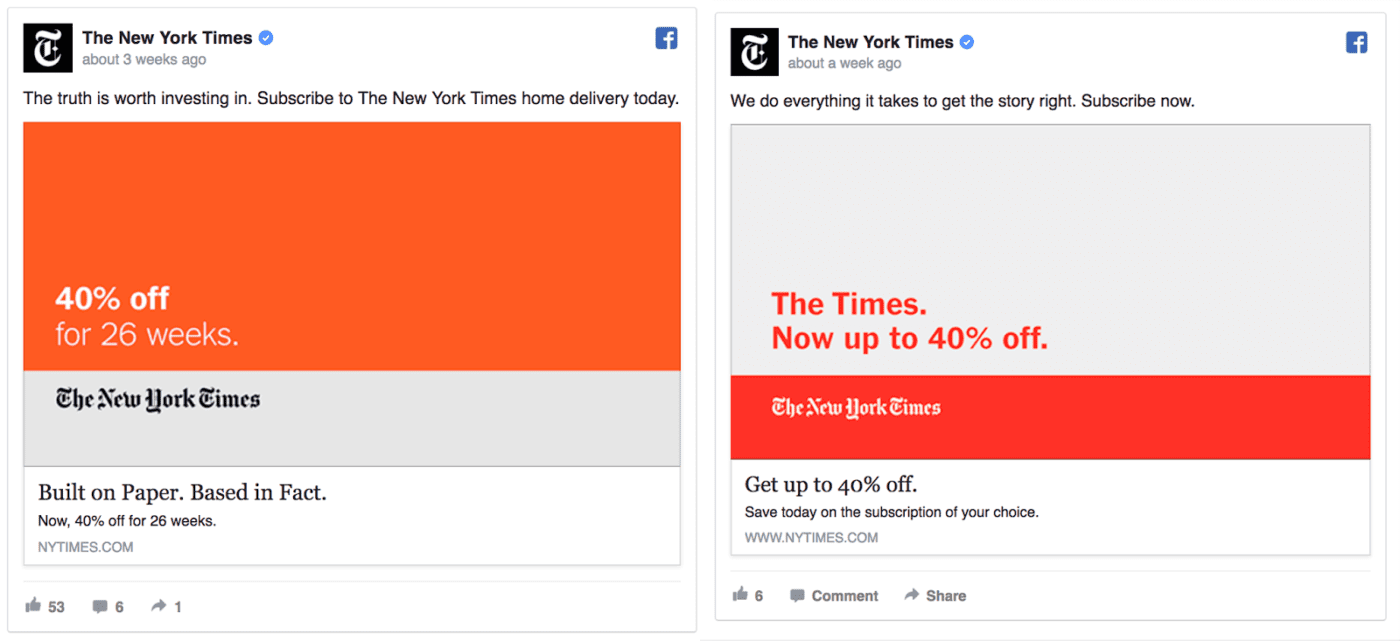 new york times facebook ads