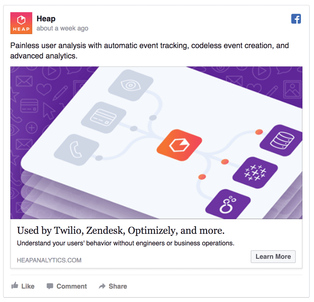 head saas facebook ad