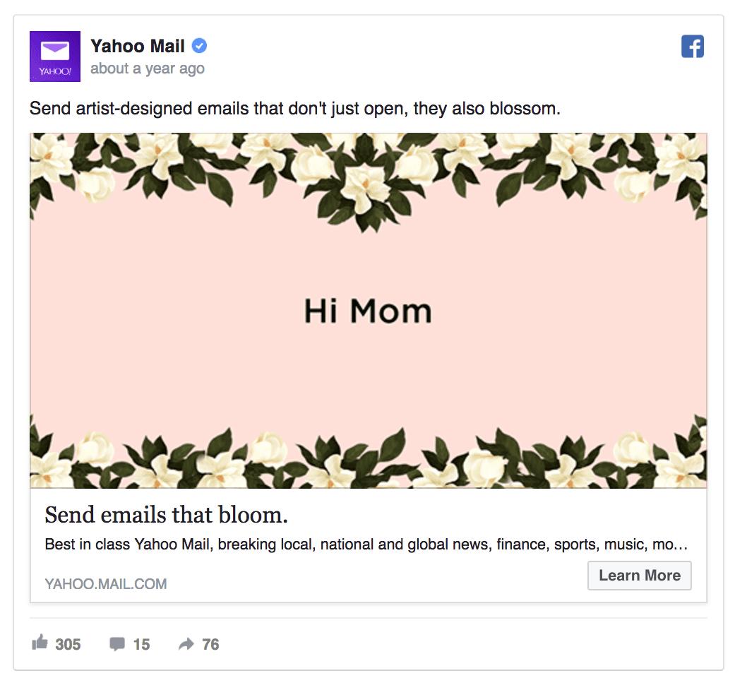 yahoo facebook ad