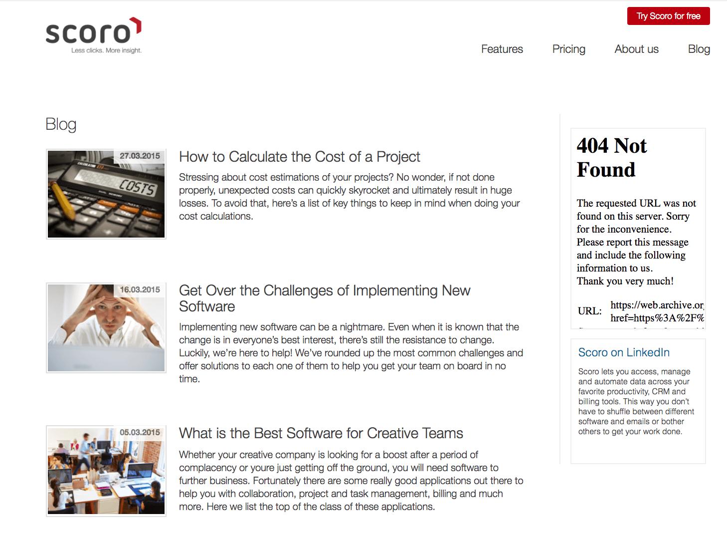 scoro blog in 2015