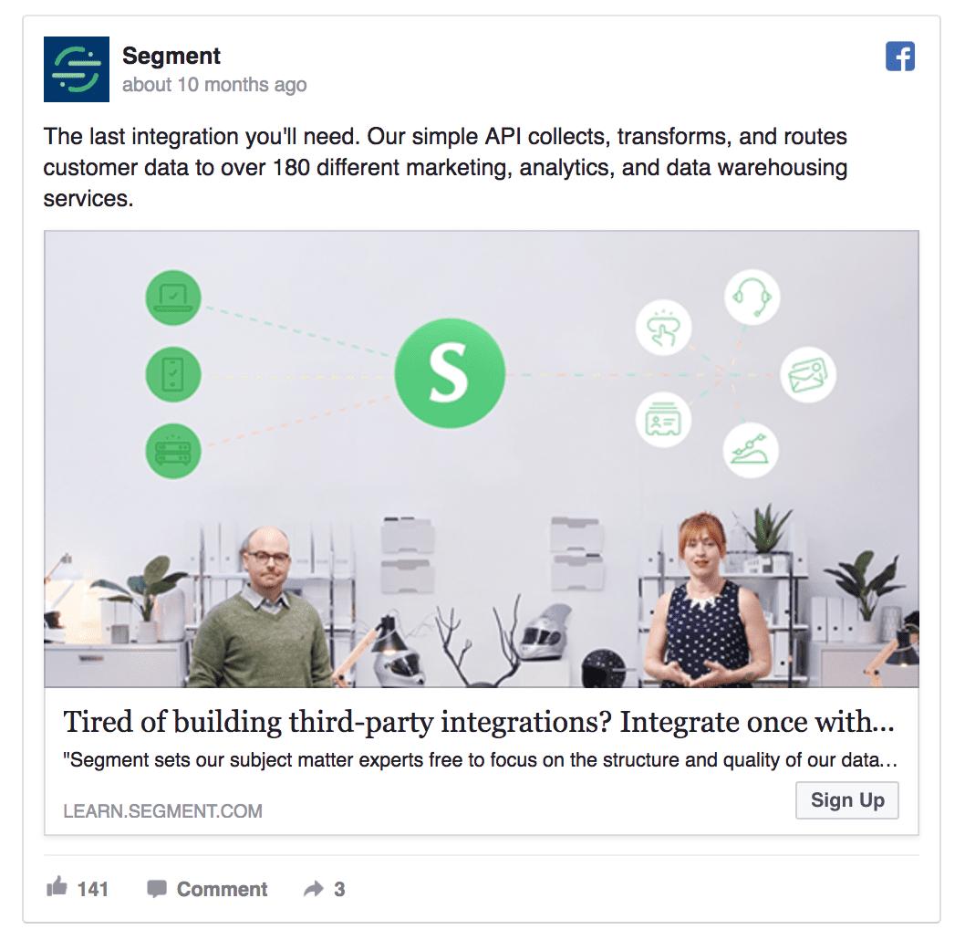 segment saas facebook ad