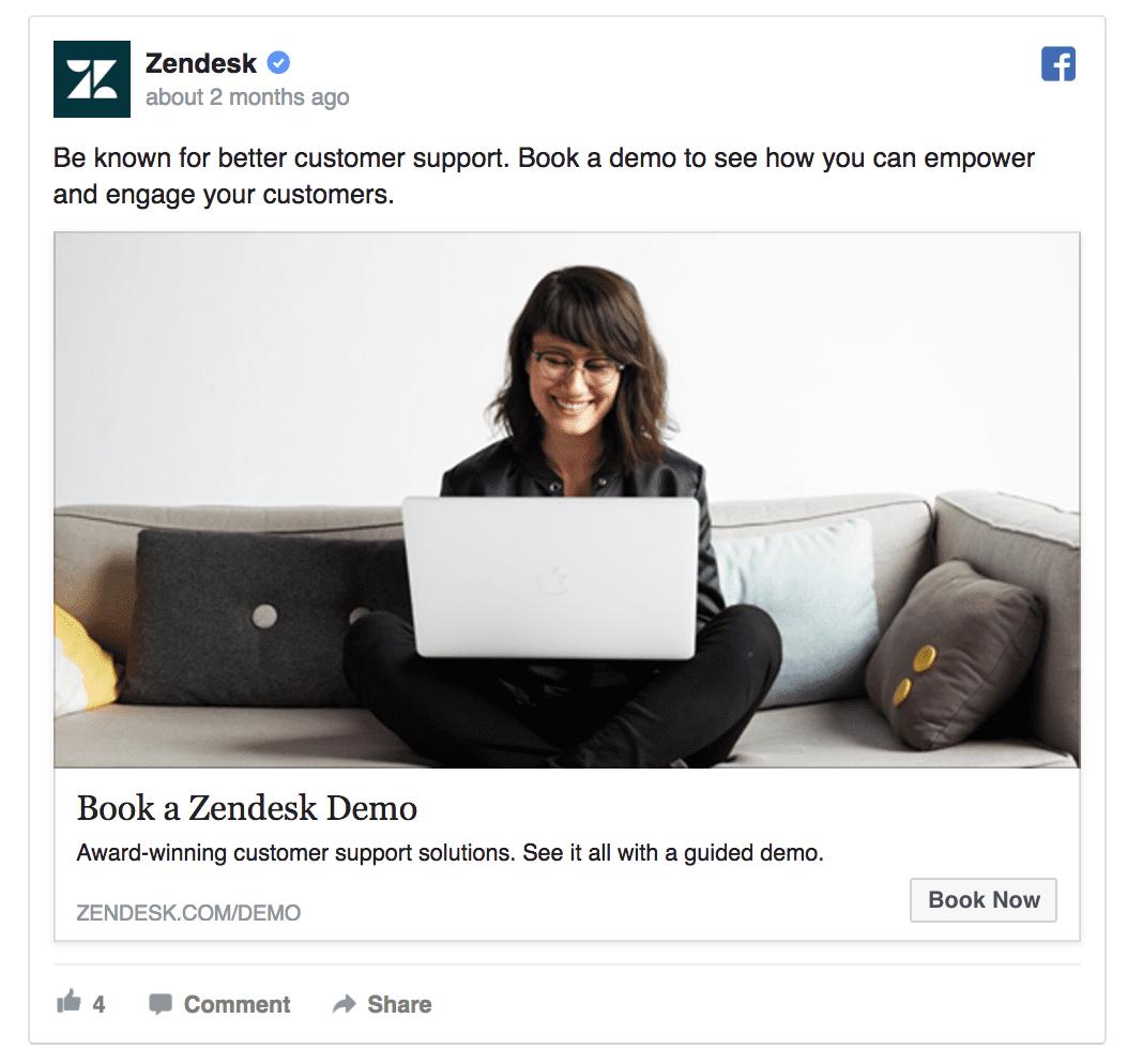 zendesk facebook ad