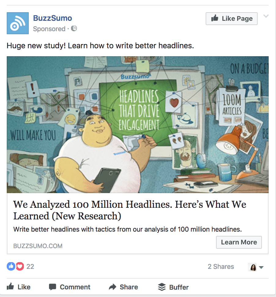 buzzsumo facebook ad hack