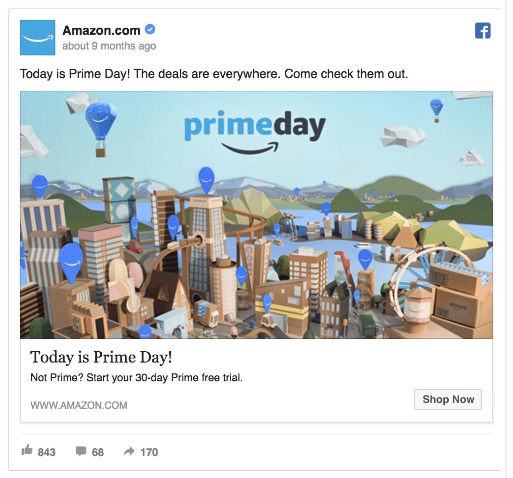 Amazon ad example