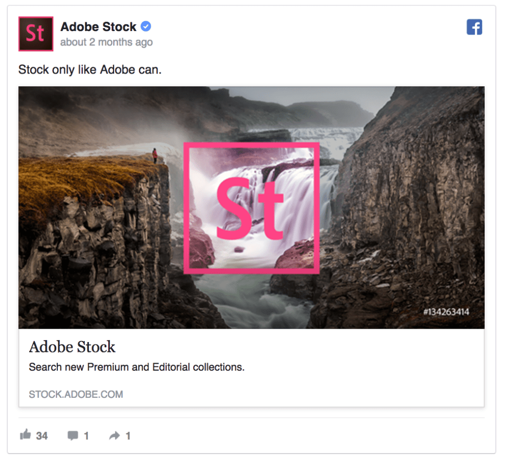 adobe stock facebook ad
