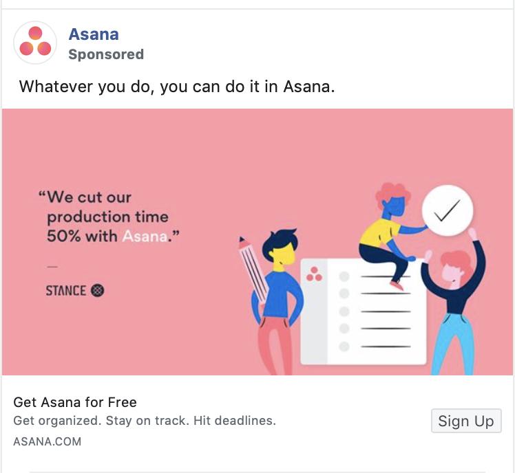 Asana ad