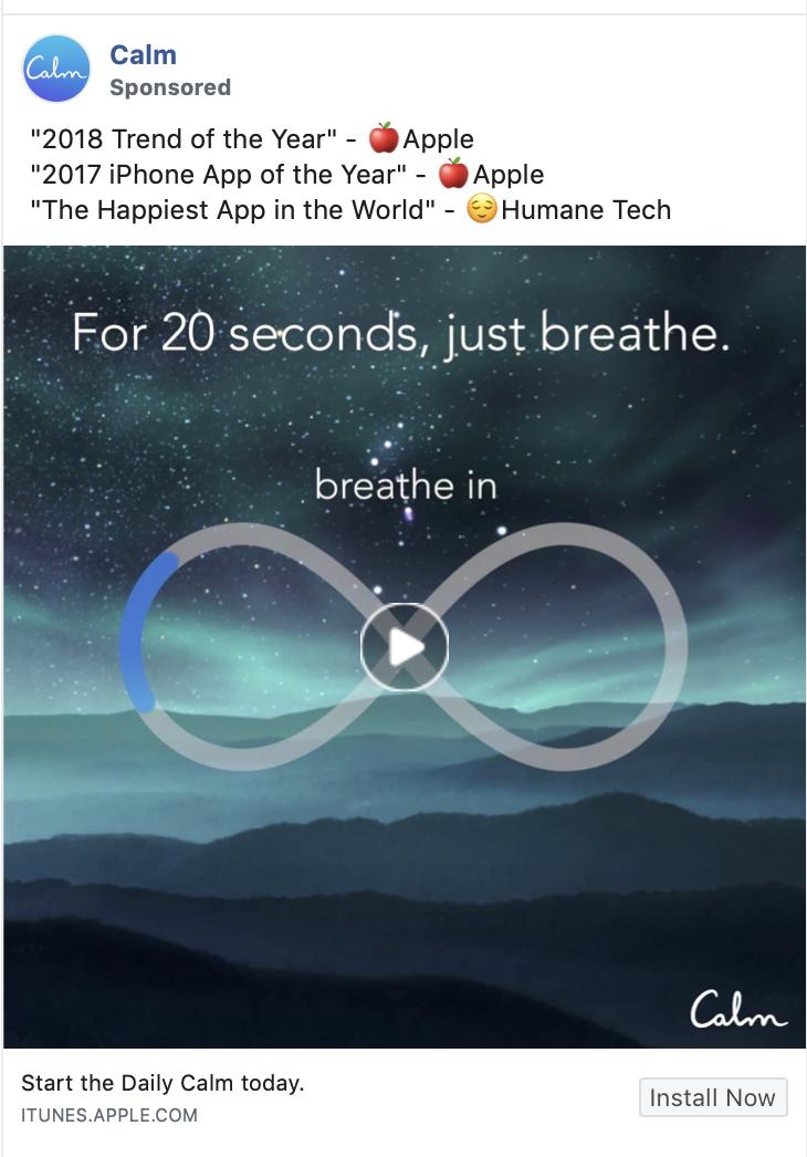 calm app ad