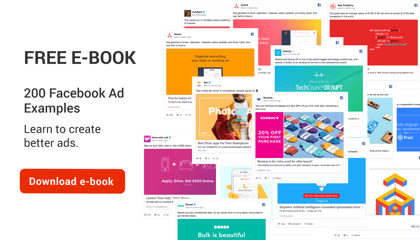 200 facebook ad examples ebook