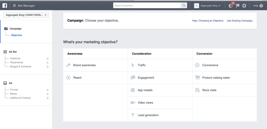 facebook low budget campaign setup