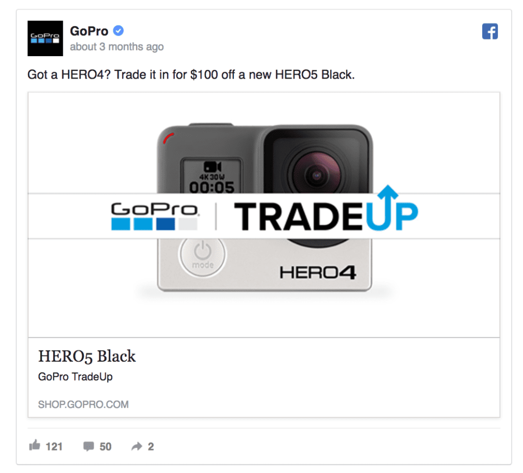 gopro facebook ad example