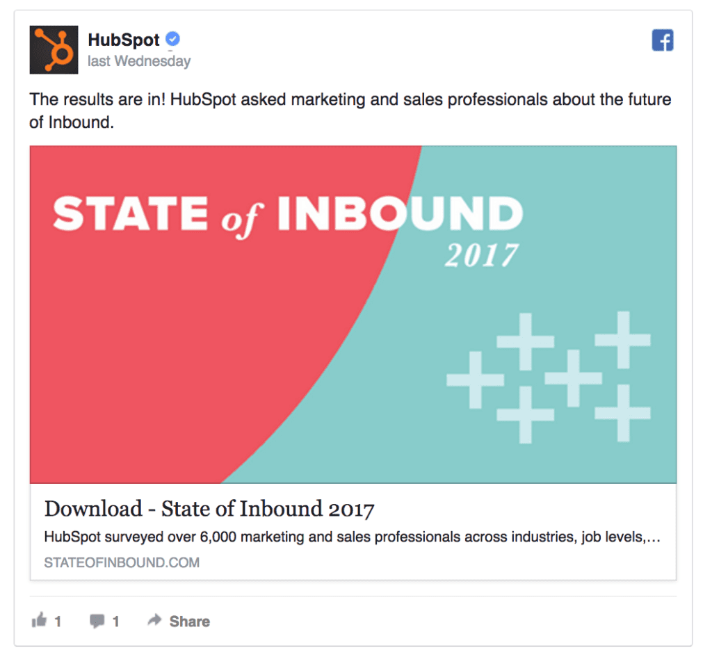 hubspot facebook ad