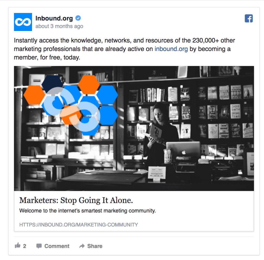 inbound facebook ad example