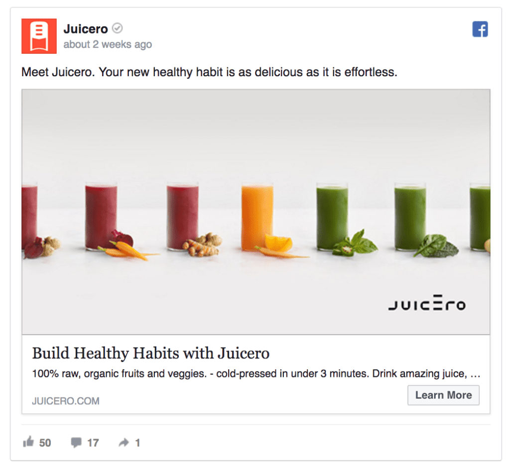 juicero facebook ad