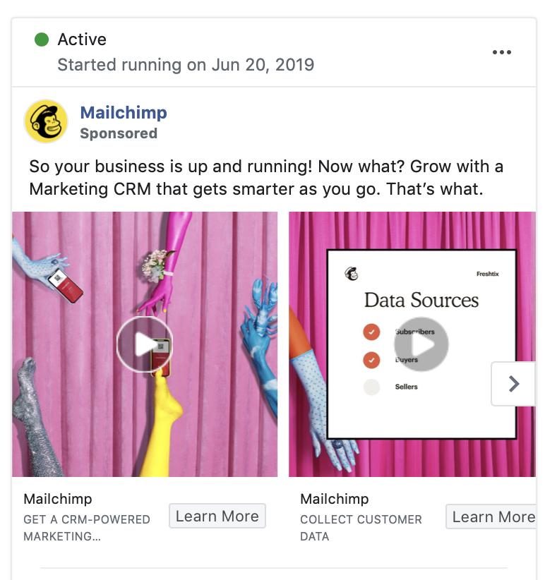 mailchimp facebook ad