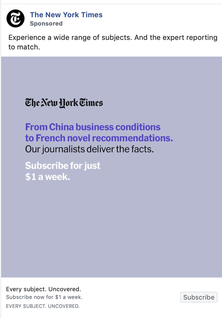 nytimes ad