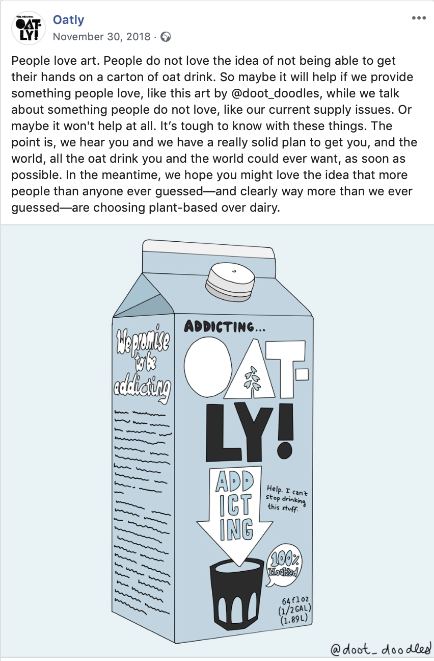 oatly facebook post example