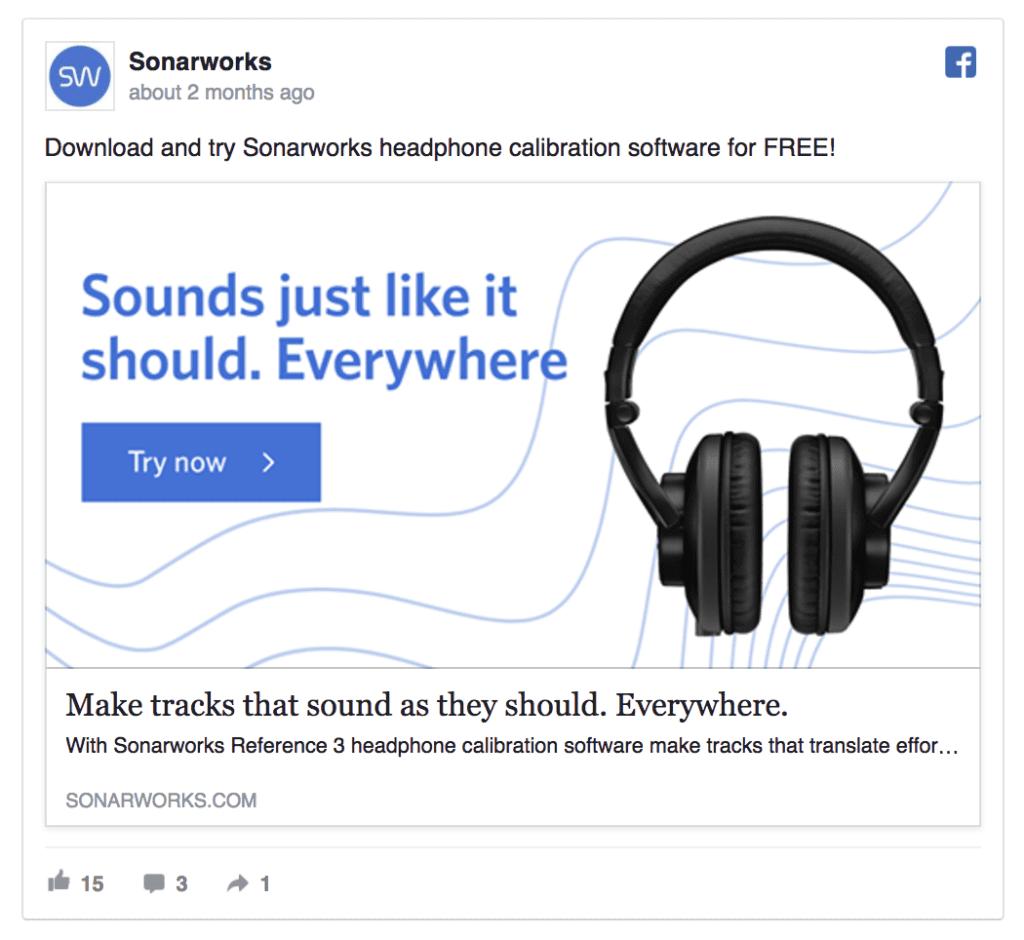 sonarworks facebook ad