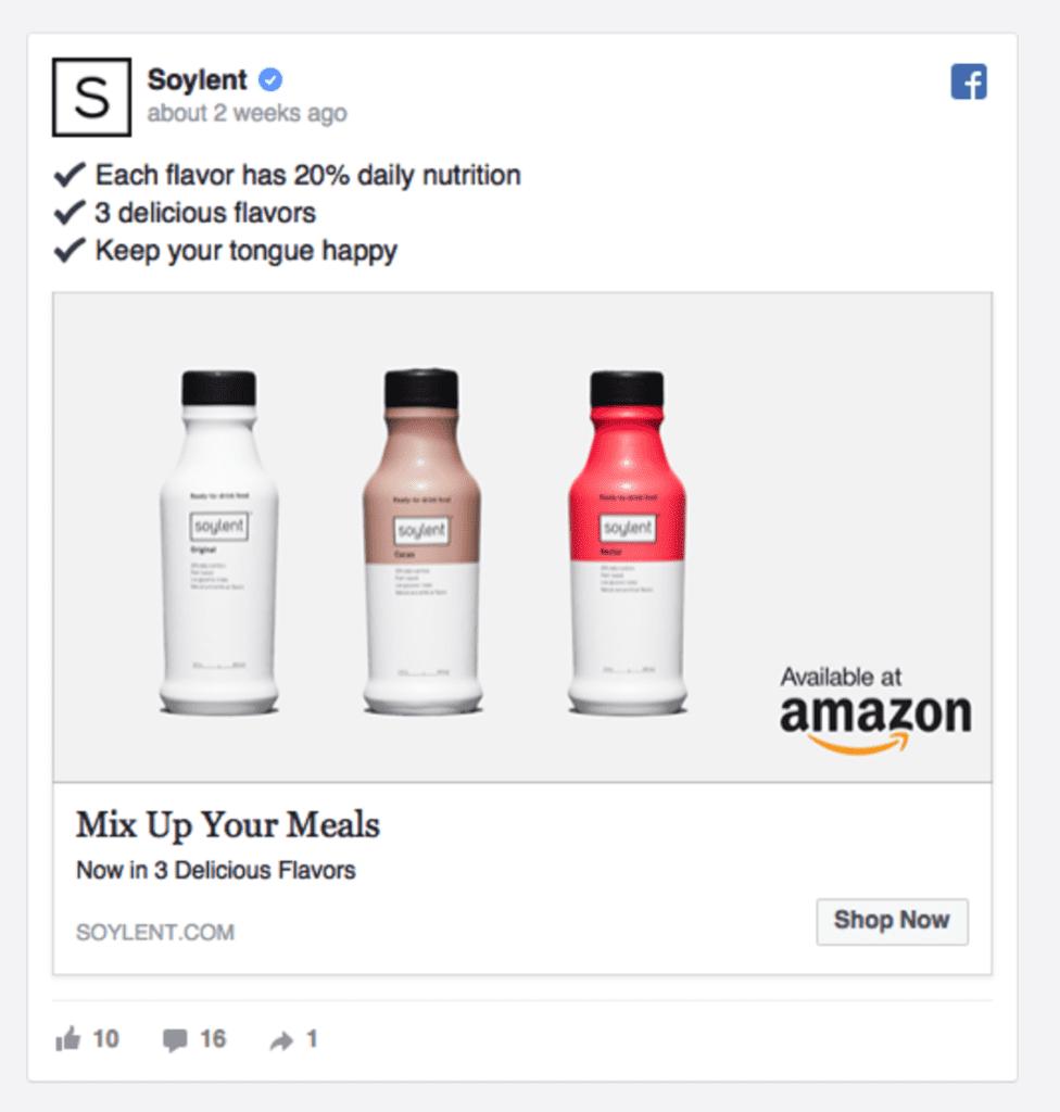 soylent facebook ad