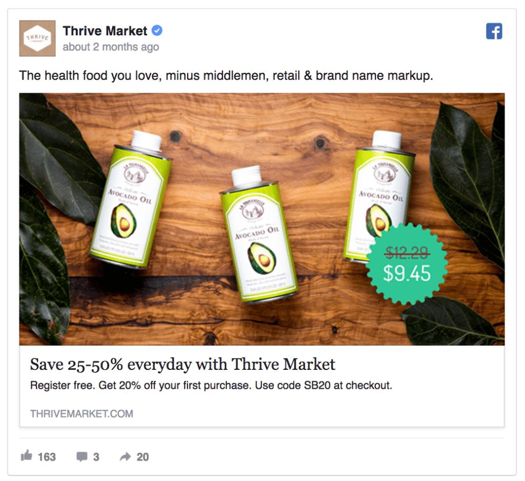 thrive facebook ad