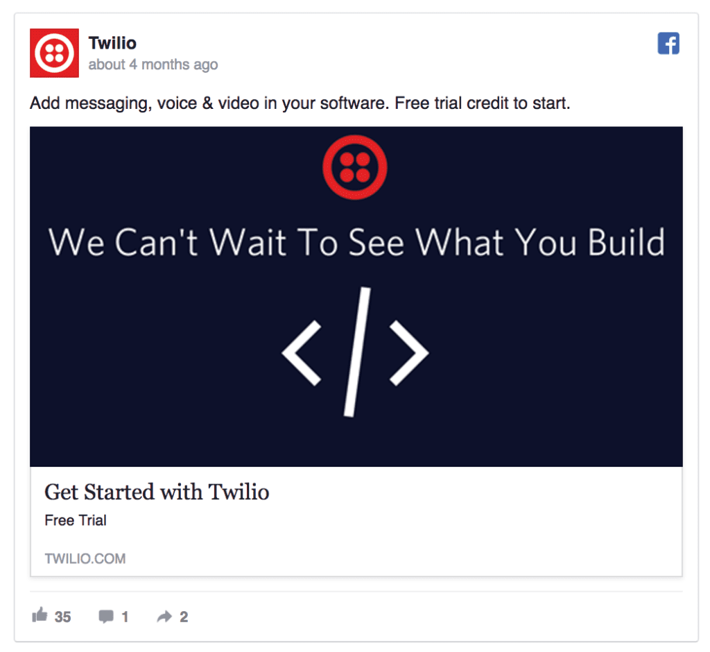 twilio facebook ad