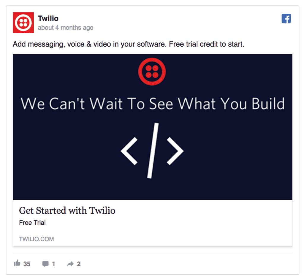 twilio facebook ad