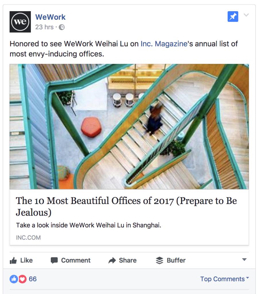 wework facebook ad