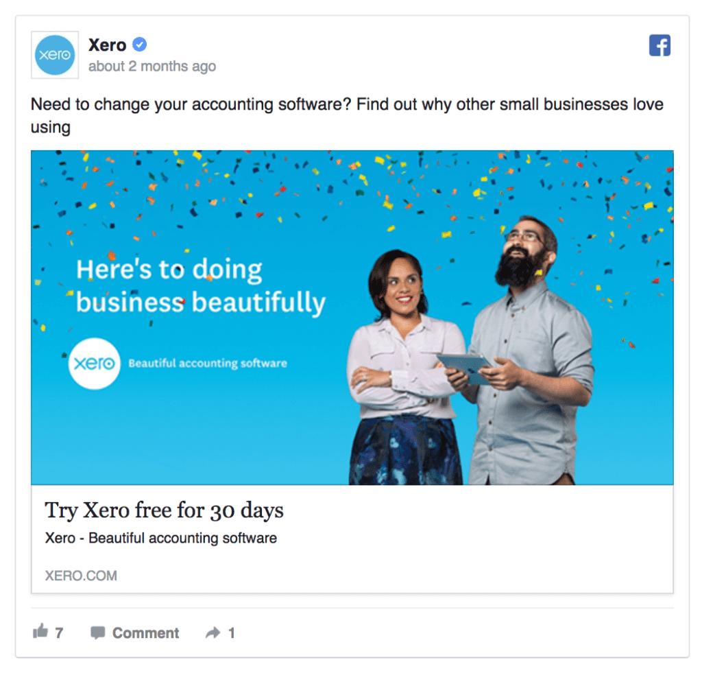 xero facebook ad