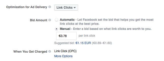Facebook Suggested Bids