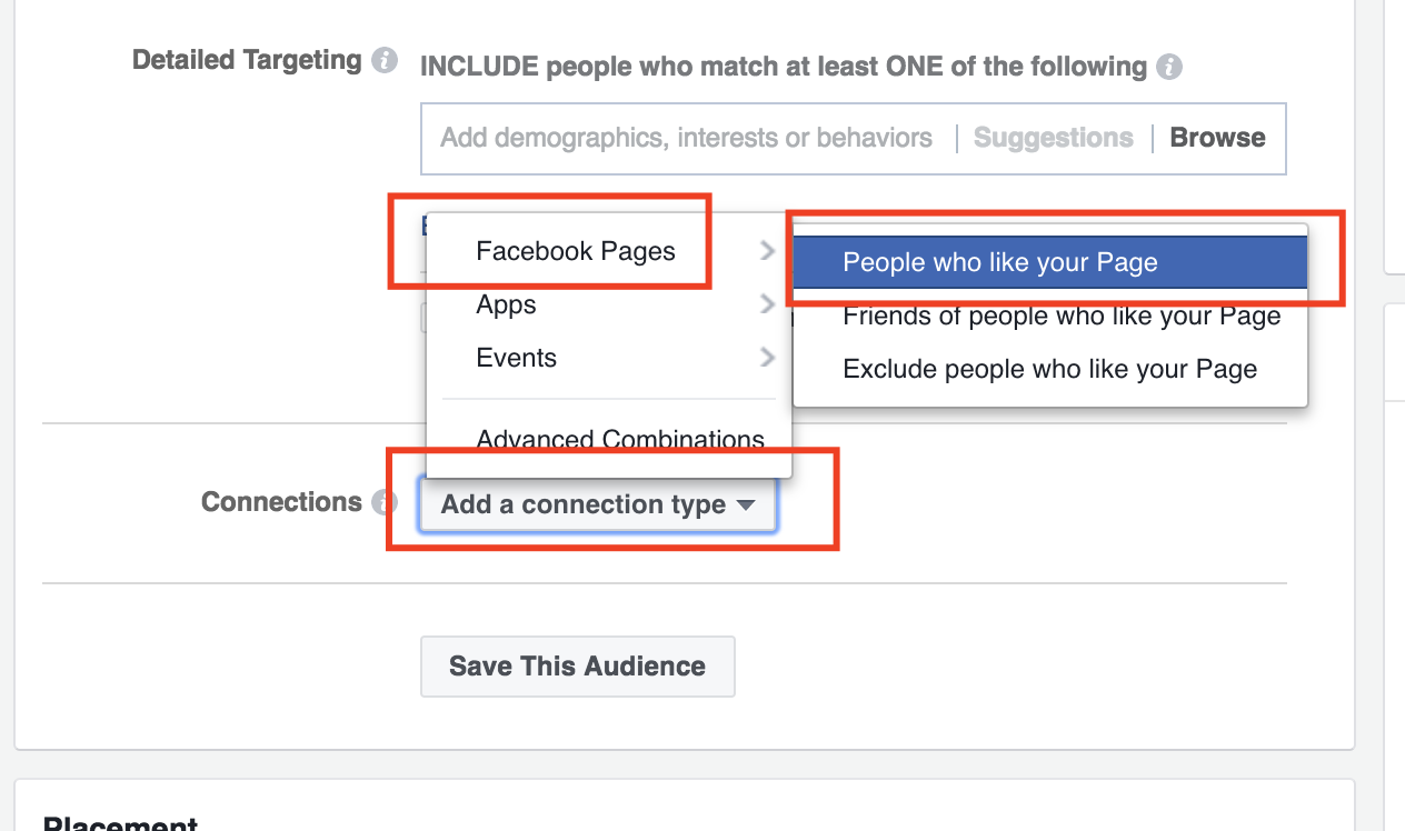 Target your Facebook page fans