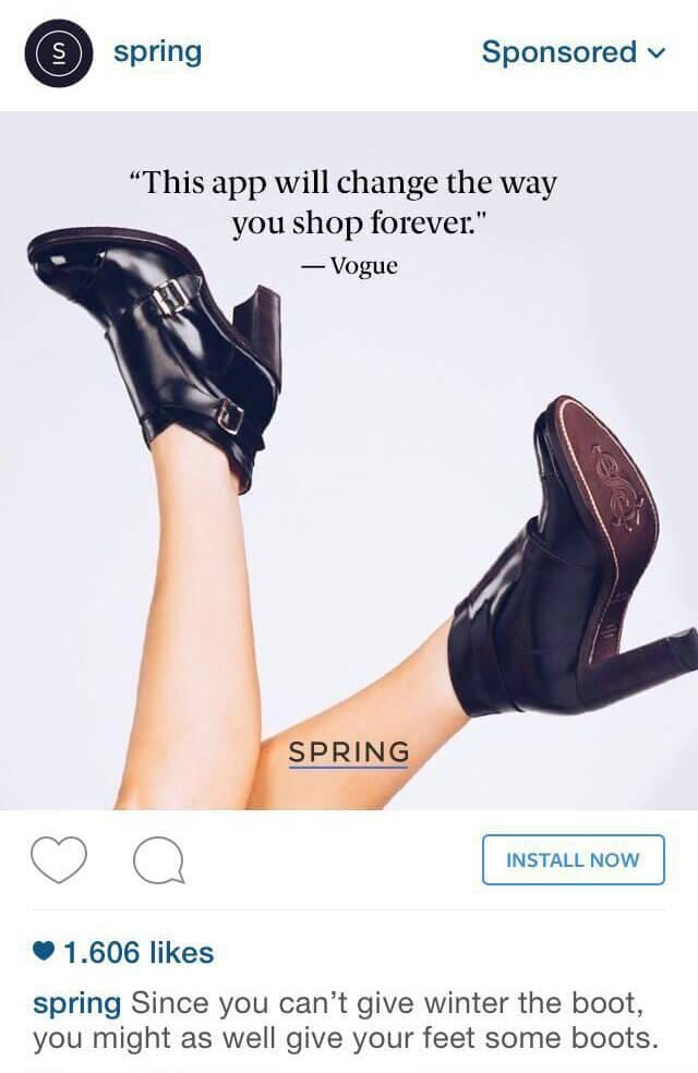 instagram ad design example