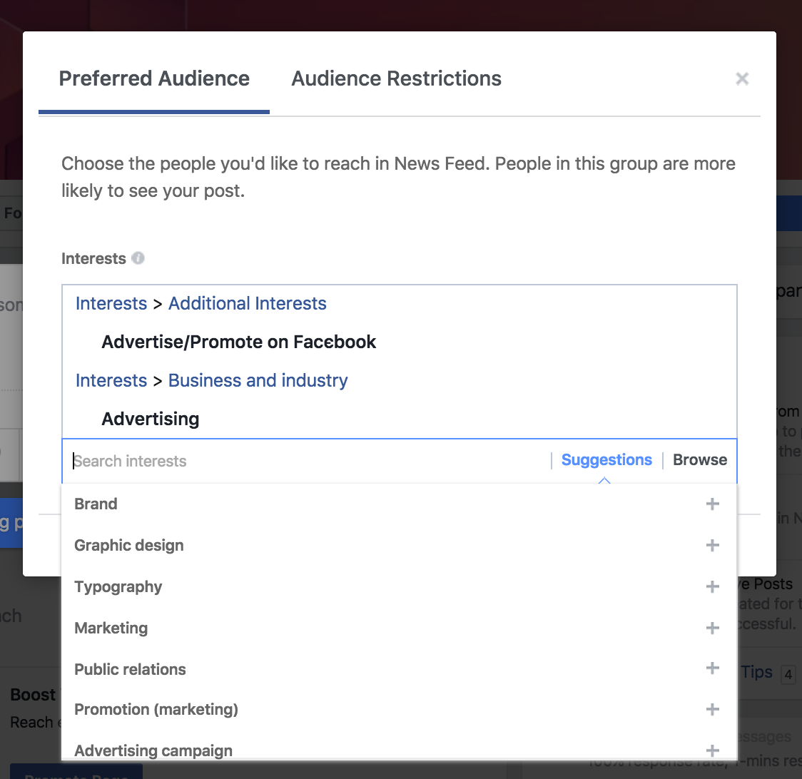 optimize facebook post audience