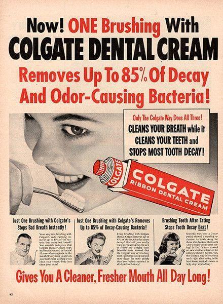 Colgate vintage advertisement