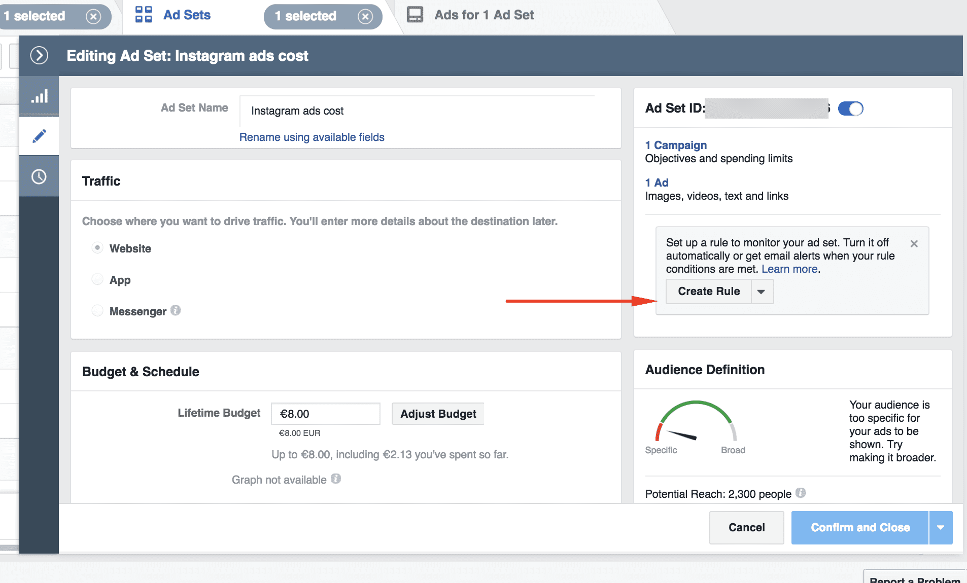 How to set up automated Facebook rules
