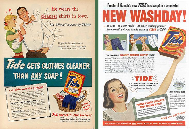 Vintage ads by Tide